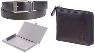 Club Rochelier Perfect Men Combo Wallet Card Holder Belt 44300BCNB (EA1)