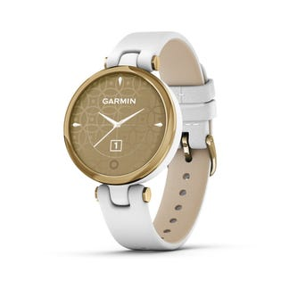 Garmin Lily Classic Leather Heart Rate Smartwatch and Fitness Tracker with Assistance Alerts - White 010-02384-A3 (EA1)