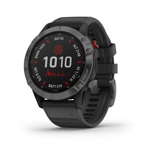 Garmin Fenix 6 Pro Solar Charging GPS Smartwatch Steel and Fitness Tracker with Incident Detection - Black 010-02410-14 (EA1)