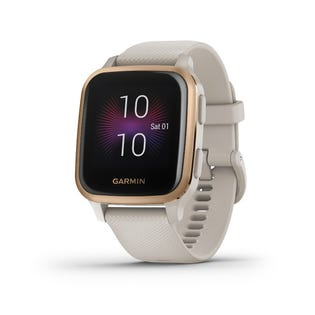 Garmin Venu Sq GPS Music Smartwatch and Fitness Tracker with Incident Detection Rose Gold 010-02426-01 (EA1)