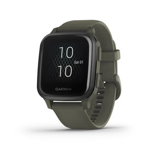 Garmin Venu Sq GPS Music Smartwatch and Fitness Tracker with Incident Detection Green 010-02426-03 (EA1)