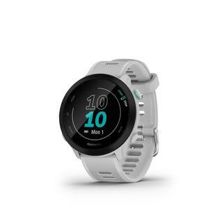 Montre intelligent de course et suivi de la condition physique Garmin Forerunner 55 GPS - Blanc 010-02562-01 (EA1)