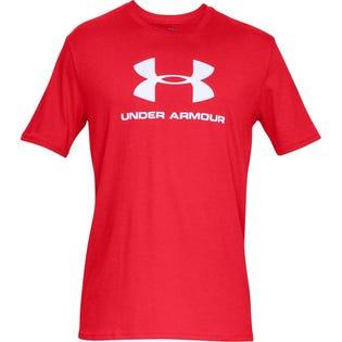 Under Armour Men's Short Sleeve Sportstyle Logo Red