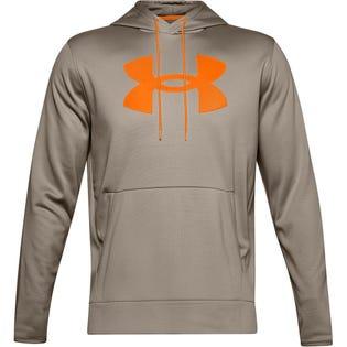 Under Armour Men's Fleece Big Logo Hoodie Brown