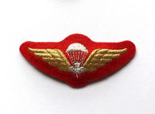 Parachutist White Mess Dress Badge