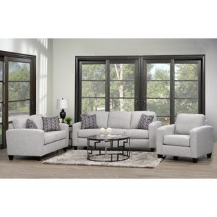 Fancy Encore Love Seat Silver 1775-LS