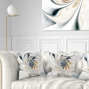 """Designart Stained Glass Floral Modern Throw Pillow 16"""" CU10276-16-16 (EA1)"""