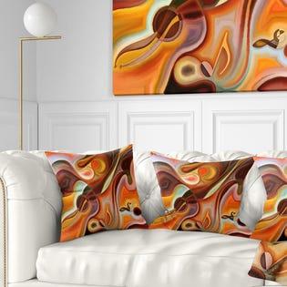 Designart Music Dreams Abstract Throw Pillow CU6148-18-18 (EA1)