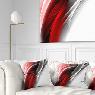 Designart 3D Pink Silver Vertical Lines'Pillow CU8120-18-18 (EA1)