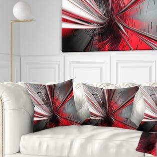 Designart Fractal 3D Deep into Middle Contemporary Throw Pillow CU9201-16-16 (EA1)