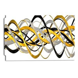 Helix Expression Abstract Art graphique sur toile enveloppée PT3015-32-16 (EA1)