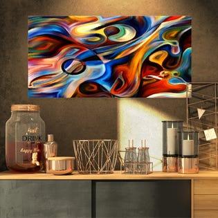 Designart Musique abstraite et rythme Impression artistique sur toile abstraite PT6152-40-30 (EA1)