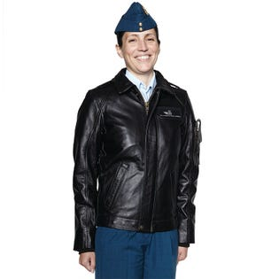 Royal Canadian Air Force Women's Leather Flight Jacket
