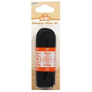 """Kiwi Outdoor Woven Boot Lace 72""""  Black"""