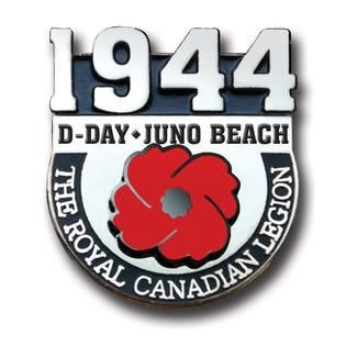 Épingle commémorative – Jour J, Plage Juno