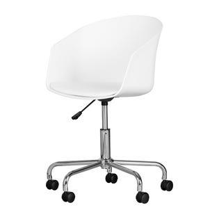 South Shore Flam Swivel Chair White/Chrome (EA1)