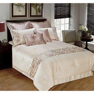 Ensemble de literie avec édredon pour grand lit Kylie de LadySandra, 8pièces (EA2)