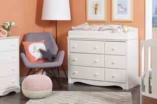 South Shore Angel Changing Table 6-drawers White 10208 (EA1)