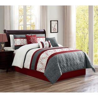 Ensemble de literie avec édredon pour grand lit Seville de LadySandra, 7pièces (EA2)