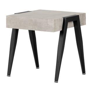 South Shore City Life Square End Table Concrete 11416 (EA1)