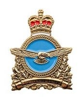 RCAF Insignia Lapel Pin - Gold