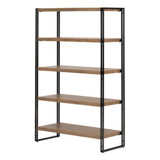 South Shore Gimetri Standard 5 Fixed Shelves - Shelving Unit Bamboo 11521 (EA1)