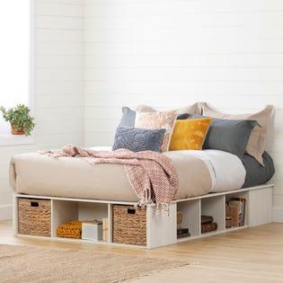 South Shore Avilla Storage Bed with Baskets Queen 11836 (EA1)