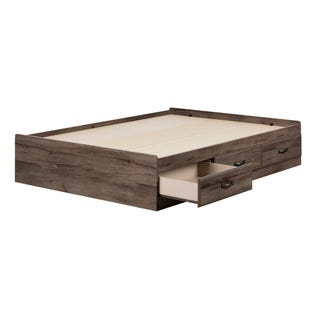 South Shore Ulysses Mates Bed with 3 Drawers Fall Oak 11914 (EA1)