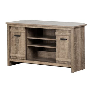 South Shore Exhibit Corner TV Stand  42'' Weathered Oak 11927 (EA1)
