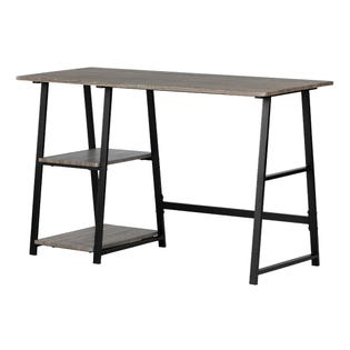 South Shore Evane Industrial Desk with Storage Oak Camel (EA1)