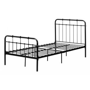 South Shore Cotton Candy Metal Complete Twin Bed Black (EA1)