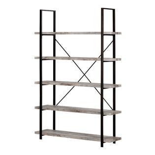 South Shore Gimetri Standard 5-Shelf Shelving Unit Soft Gray 12470 (EA1)