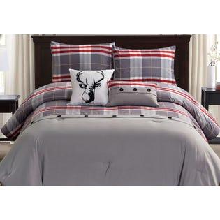 Ensemble de literie avec édredon pour grand lit Lodge de LadySandra, 5pièces, multicolore (EA2)