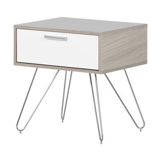 South Shore Slendel Nightstand Soft Elm and White 12665 (EA1)