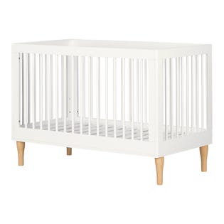 South Shore Balka Baby Crib with Adjustable Height White 12938 (EA1)