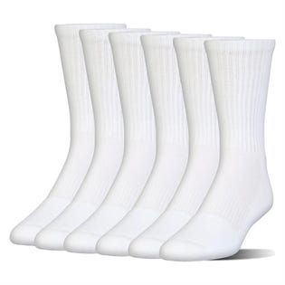 Under Armour Charged Crew Sock 6-Pack White