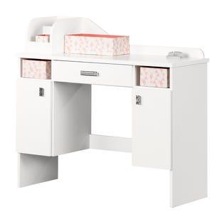 South Shore Tiara Makeup Desk White 12989 (EA1)