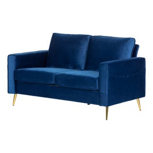 South Shore Live-it Cozy 2-Seat Sofa Dark Blue 13055 (EA1)
