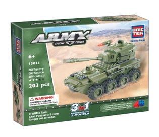 BRICTEK - Army 8 Wheel Tank 3in1 (15033)