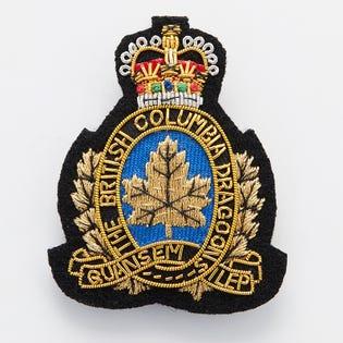 BCD Affiliated Cadet Corps Cloth Cap Badge