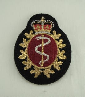 Medical Officer Cloth Cap Badge