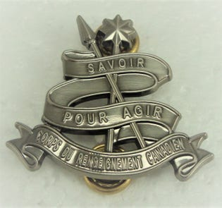 Canadian Intelligence Corps (C RENS C) Collar Dogs-French NCM