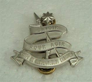Corps du renseignement Canadien (C Rens C) Collar Dogs-French Officer