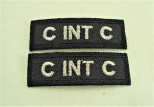 Canadian Intelligence Corps (C INT C) English Shoulder Tab