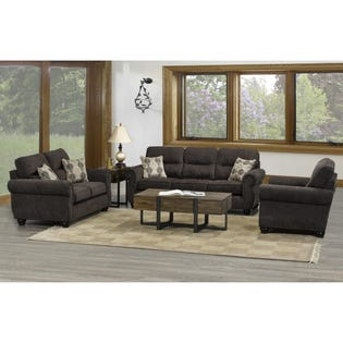 Fancy Lacey Love Seat Brown 1665-LS