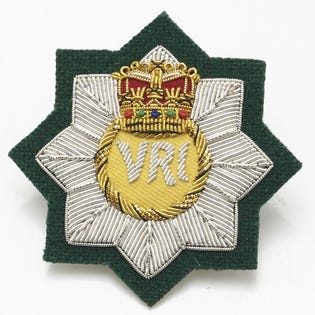 RCR RHQ  Officer Cap Badge