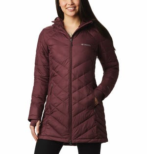 Columbia Women's Heavenly Long Jacket Burgundy
