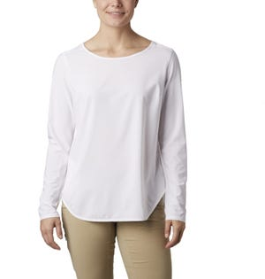 Columbia Women's Place II Place Long Sleeve Shirt White