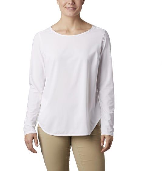 Columbia Women's Place II Place Long Sleeve Shirt White