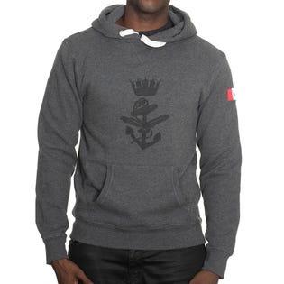 Navy Crested Fleece Hoodie